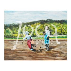 Work on the fields Painting