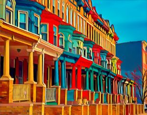 Row Houses in Color