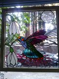 Hummingbird in stained-glass