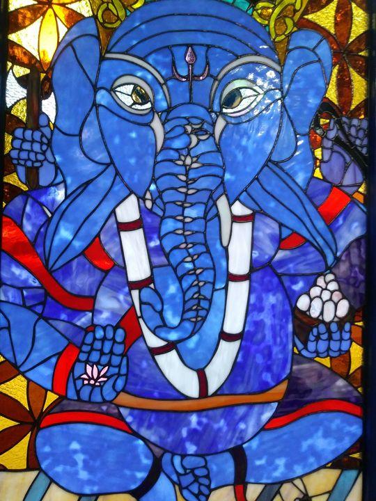 Blue Ganesha - Aldina Rubino