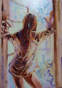 """ A WINDOW ... ""- liGHt ORIGINAL OIL"