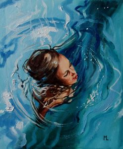""" BLUE ... "" SEA original painting p"