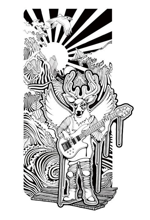 Thunderfunk Deer - Performance Paintings