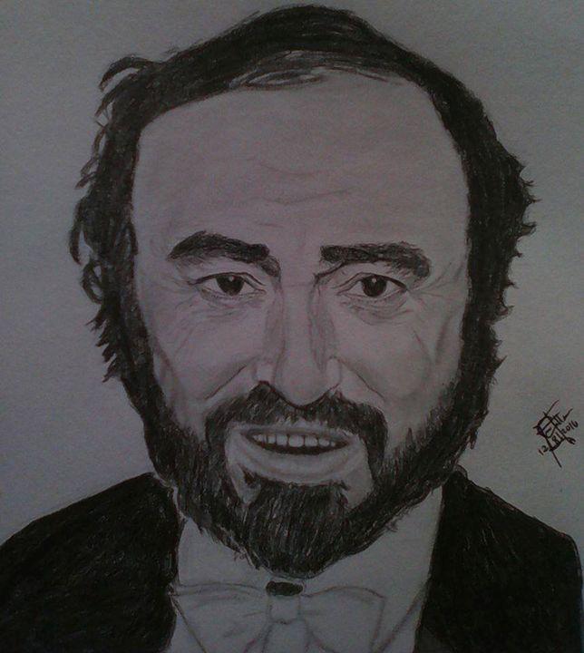Luciano Pavarotti - Daniel Miranda's Art Collections