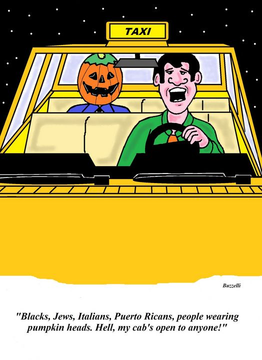 My cab - Art by Ray Buzzelli