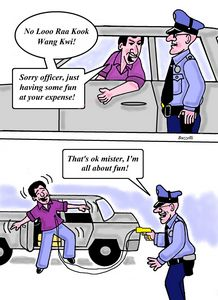 Sorry officer