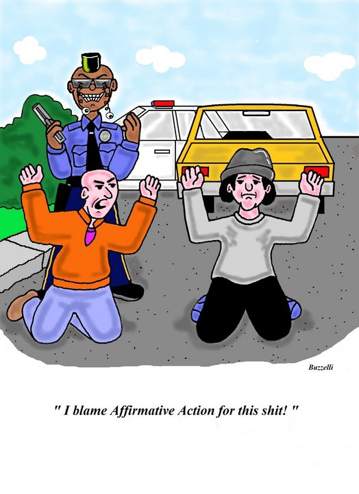 Affirmative Action - Art by Ray Buzzelli