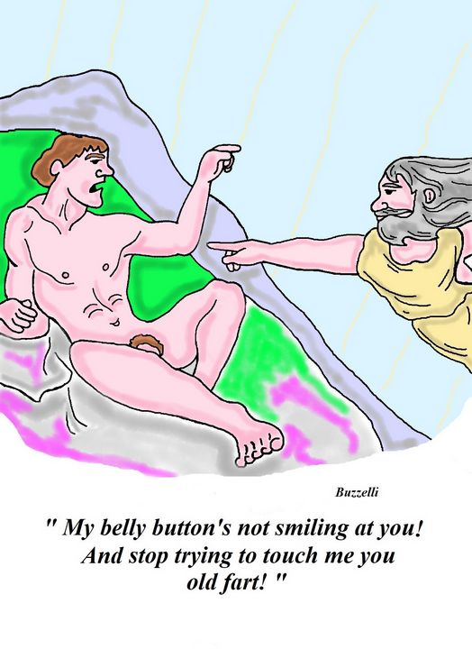 My belly button - Art by Ray Buzzelli