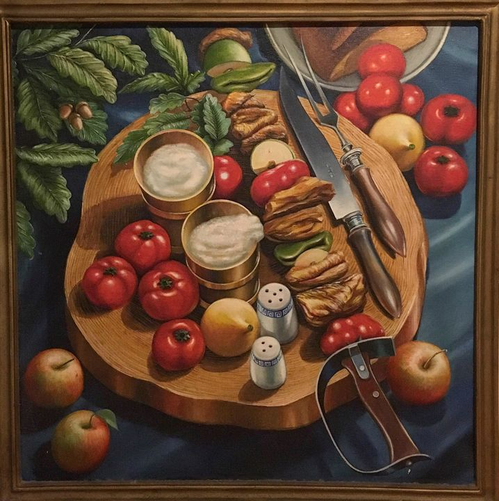 Still life with knife - Oparovery
