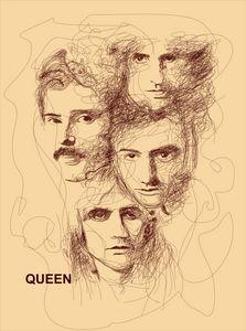 Queen Scribble