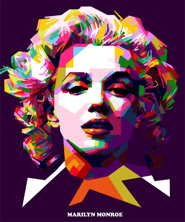 Marilyn Monroe Portrait - wpap colies