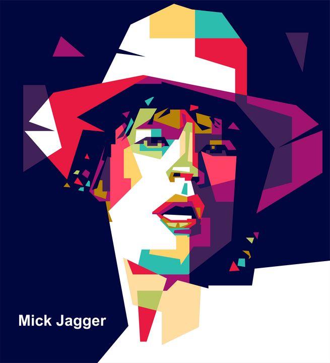 Mick Jagger Portrait - wpap colies