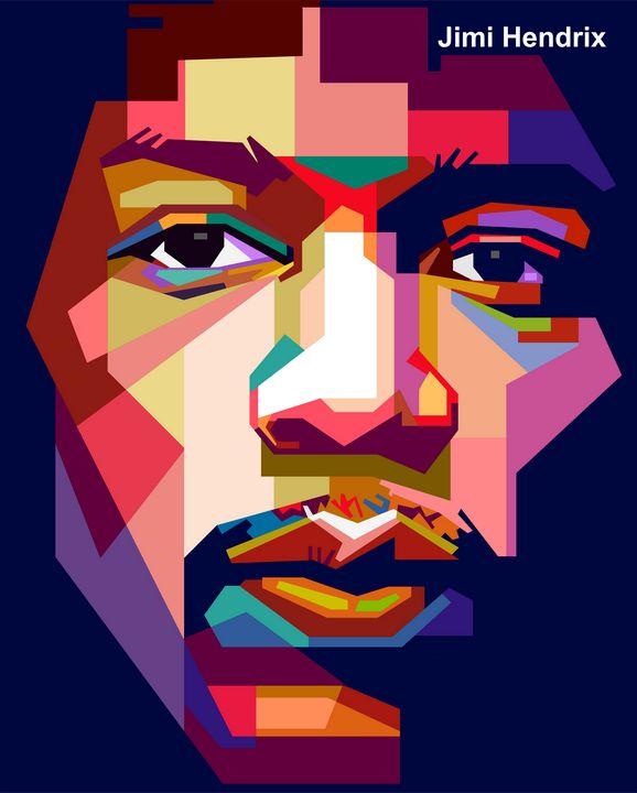 Jimi Hendrix Portrait - wpap colies