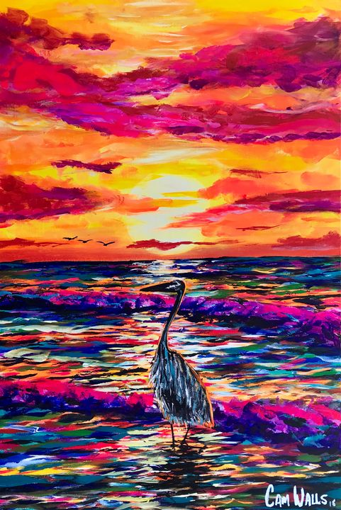 Heron - CamWallsArt