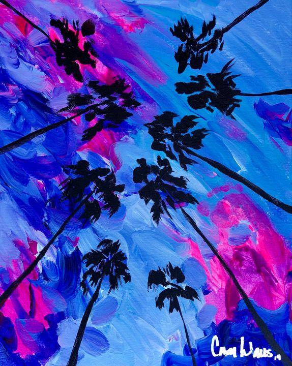 Blue Palms - CamWallsArt