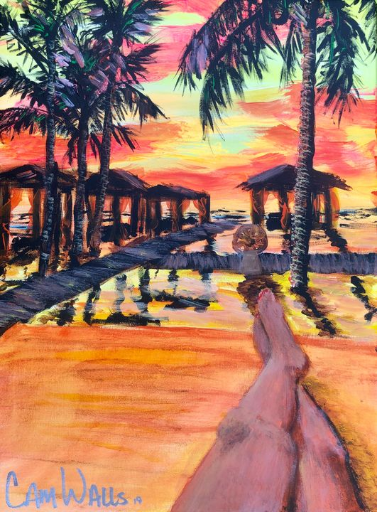 Cancun sunset - CamWallsArt