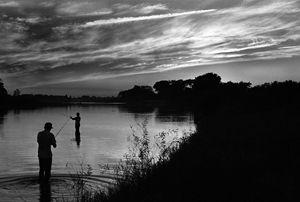 Fishing on a Lake