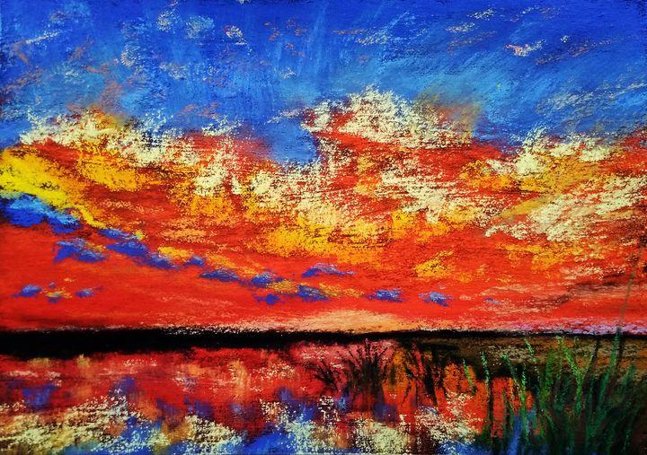 Firey sunset - Anjali Dixit Sharma