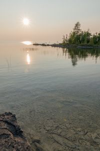 Beautiful calm sunset on Lake Huron