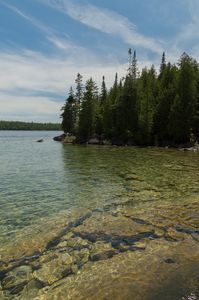 Georgian Bay shoreline aqua water