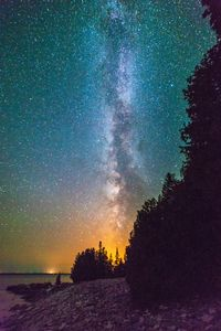 Flaming Milky Way Starry Shoreline