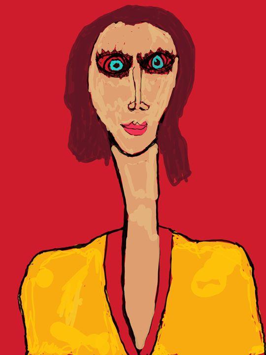 Lady With the Devilish Eyes - Buddha's Art Shop