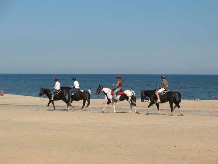 Riding at Virginia Beach - Nina La Marca Artistic Photography