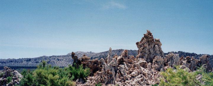 Tufas with Blown Volcano Backdrop - Nina La Marca Artistic Photography
