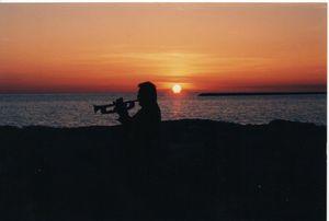 Trumpeter at Sunset - Nina La Marca Artistic Photography
