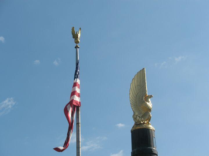 American Flag, Gold Eagles - Nina La Marca, Artist's Photography