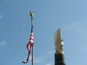 American Flag, Gold Eagles