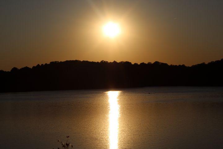 Radiant Sunset, Eagle Creek - Nina La Marca, Artist's Photography
