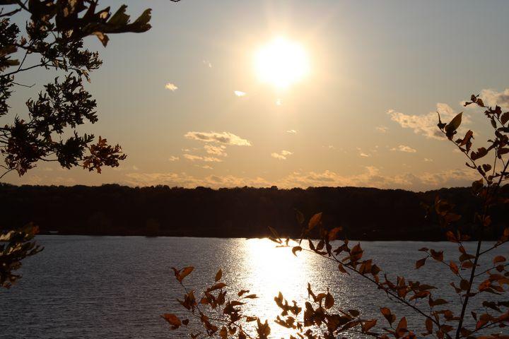 Autumn Sunset, Eagle Creek - Nina La Marca, Artist's Photography