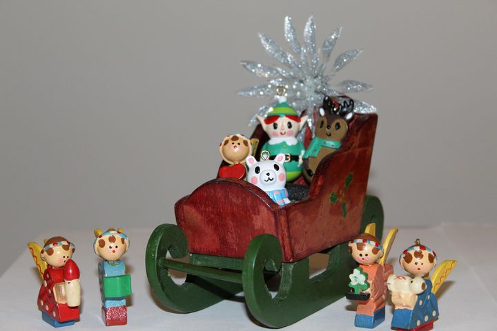 Angels Escort Elf Sleigh - Nina La Marca, Artist's Photography on Artpal