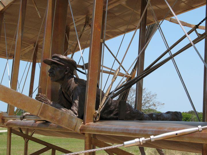 Orville Flies First at Kitty Hawk - Nina La Marca, Artist's Photography on Artpal