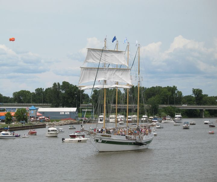 Sailing Windy II Saginaw River - Nina La Marca, Artist's Photography on Artpal