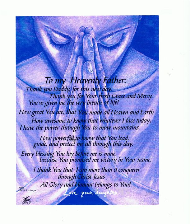Prayer to my Heavenly Father - Julienne Johnstone B.F.A.