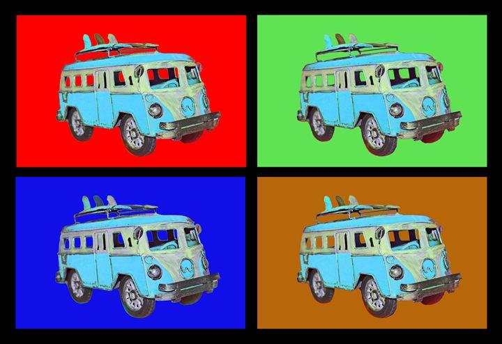 Surf Van - Blue - Robert Wallace