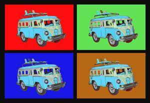 Surf Van - Blue