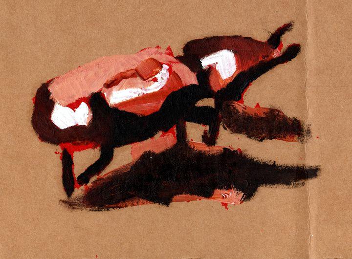 Red Beetle - Cornstalks Design