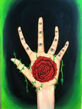 Hand and Rose