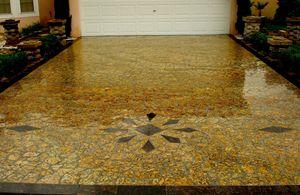Granite Mosaic Driveway