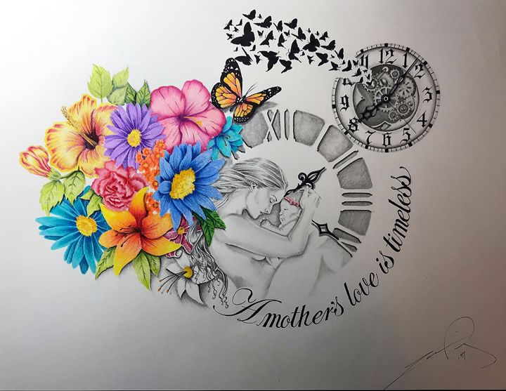 A mother's love is timeless - Ingenious Artwork