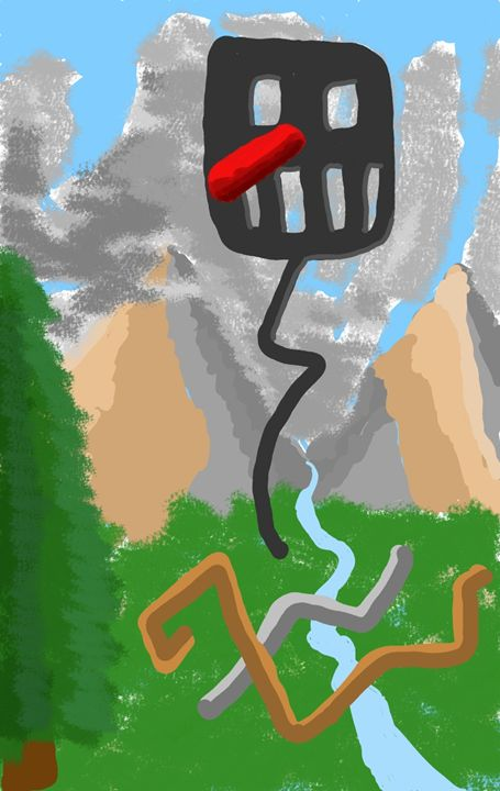 Spatula Nose in the Mountains - Yekuno's art work