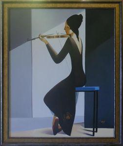Girl Playing a Violin
