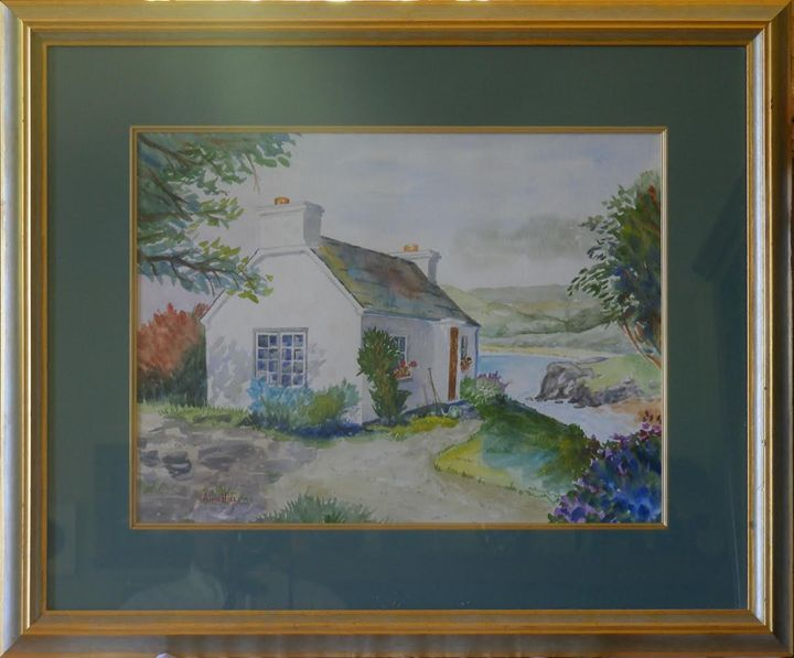 Cottage by a Stream - Frame Me This