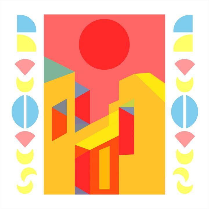 Bauhaus Style Digital Art - MO_Plattle