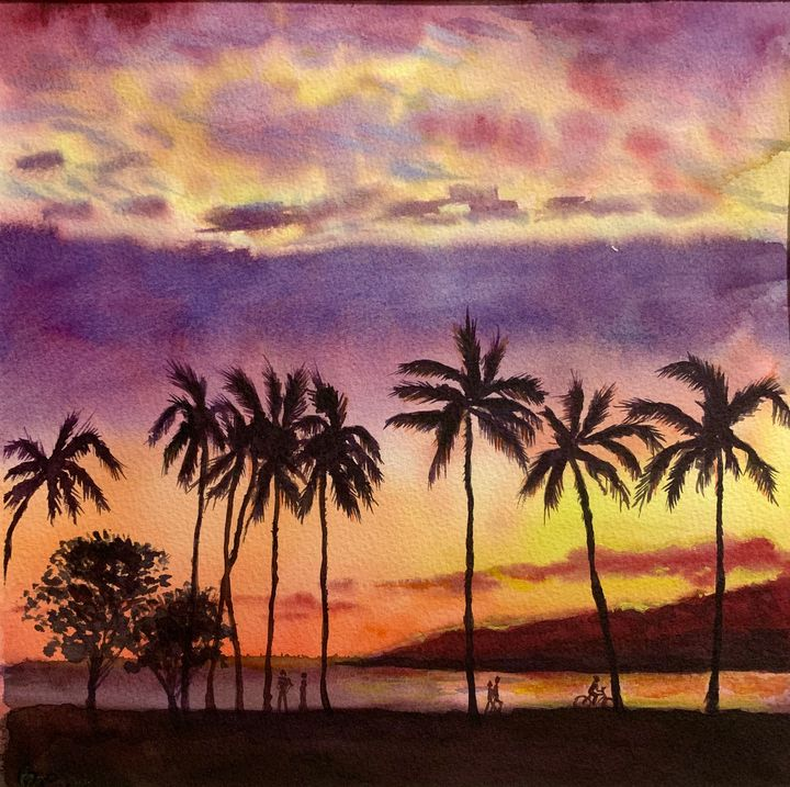 Somewhere in paradise. - Irina Collister Art