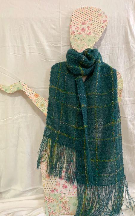 Teal scarf. - Irina Collister Art