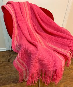Pink wool shawl. - Irina Collister Art